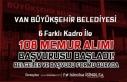 Van Büyükşehir Belediyesi 108 Memur Alımı Başladı!...