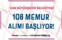 Van Büyükşehir Belediyesi 108 Memur Alımı Başlıyor!...
