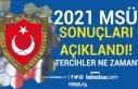 2021 Yılı MSÜ Sınav Sonuçları Açıklandı!...