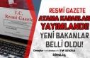 21 Nisan 2021 Resmi Gazete Atama Kararları Yayımlandı!...
