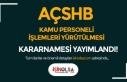 AÇSHB Kamu Personel İşlemlerinin Yürütülmesine...