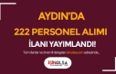 Aydın Arya Tesisleri En az İlkokul Mezunu 222 Personel...
