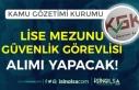 Kamu Gözetimi Kurumu (KGK) Lise Mezunu Güvenlik...