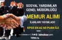 Sosyal Yardımlar Genel Müdürlüğü 3 İlde 60...
