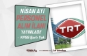 TRT 2021 Yılı Nisan Ayı KPSS Siz Personel Alımı...