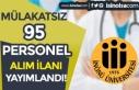 İnönü üniversitesi Mülakatsız 95 Sağlık Personeli...