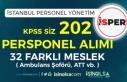 İSPER KPSS siz 202 Personel Alacak ( 32 Farklı Meslek...