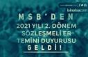 MSB'den 2021 Yılı 2. Dönem Sözleşmeli Er...
