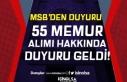 MSB Genelkurmay Başkanlığı 55 Memur Alımı Sonuçları...