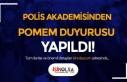 Polis Akademisinden POMEM Duyurusu Geldi! 19/1-4.Dönem...