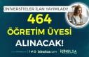Üniversitelere 464 Öğretim Üyesi ve Görevlisi...