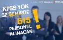 32 İlde Belediye ve SYDV'ler KPSS siz 615 Kamu...