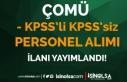 ÇÖMÜ KPSS'li KPSS'siz Sözleşmeli 4...