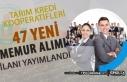 Gaziantep ve Mersin Bölge Tarım Kredi 47 Memur Alımı...