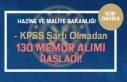 Hazine ve Maliye Bakanlığı 130 Memur Alımı Başladı!...
