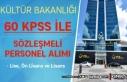 Kültür Bakanlığı 60 KPSS İle 17 Sözleşmeli...