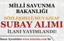 MSB 2021 Yılı Sözlemeli ve Muvazzaf Subay Alım...