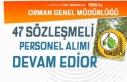 Orman Genel Müdürlüğü 47 Sözleşmeli Personel...