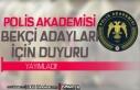Polis Akademisi Bekçi Adayları İçin Duyuru Yayımladı!...