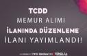 TCDD Memur Alımı İlanında Düzenleme Resmi Gazetede