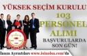 YSK 103 Zabıt Katibi, VHKİ ve Şoför Alımı Sonuçları...