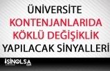 Üniversite Kontenjanlarında Köklü Değişiklik Yapılabilir!
