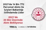 2021'de 14 Bin 772 Personel Alımı ile İçişleri Bakanlığı İstihdamda Lider