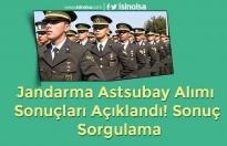 Jandarma Astsubay Alımı Sonuçları Açıklandı! Sonuç Sorgulama