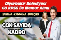Diyarbakır Belediyesi Zabıta, Trafik Memuru, İtfaiye Eri, Memur, Muhasebeci, Şoför, VHKİ, İşletmen Alımı Yapılacak!