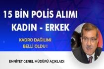 15 Bin Polis Alımı Kadın - Erkek Kadro Dağılımı Belli Oldu! Emniyet Genel Müdürü Açıkladı