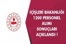 İçişleri Bakanlığı 1200 Sözleşmeli Personel Alımı Sonuçlarını Açıkladı