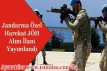Jandarma Özel Harekat JÖH Alımı İlanı Yayımlandı