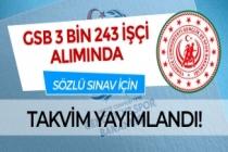 Gençlik ve Spor Bakanlığı ( GSB ) 3 bin 243 İşçi Alımı Sözlü Sınav Tarihleri Duyuruldu