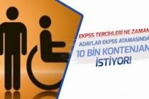 Adaylar Engelli Atamalarında Kontenjanın Yüzde 5 Olmasını ve 10 Bin Atama İstiyor!