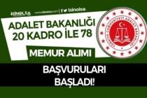 Adalet Bakanlığı 20 Farklı Pozisyon İle 78 Memur Alımı Başvuruları Başladı!