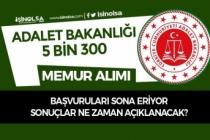 Adalet Bakanlığı CTE 300 Memur Alımı ve 5000 Arabulucu Alımı Sona Eriyor!