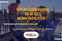 İŞKUR Üzerinden 30 Bin İşçi Alımı Yapılıyor! Kadrolar ve Başvuru Şartları