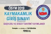 ÖSYM 2019 Kaymakamlık Giriş Sınavı Başvuru Takvimi Yayımlandı!