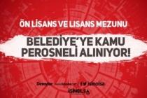 Erdek Belediyesi KPSS'siz Sözleşmeli Kamu Personeli Alımı İlanı