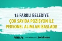 İŞKUR'da 15 Belediye Personel Alımı İlanları Yayımlandı!