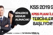 KPSS 2019/2 Tercihleri İle Memur ve Personel Alımları Başlıyor!