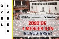 4 Meslekte 3600 Ek Gösterge Mecliste!