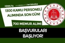 Adalet Bakanlığı 1300 Kamu Personeli Alımı Bitiyor 700 Memur Alımı Başlıyor
