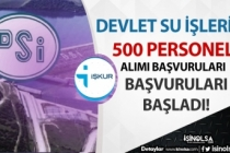 DSİ Kamu Personeli Alımı Başvuruları İŞKUR'da Başladı! Kadro Dağılımı ve Şartlar?
