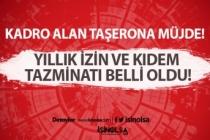 Taşeron Çalışanlara Kıdem Tazminatı ve Yıllık İzin Müjdesi!
