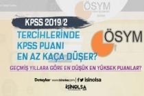 KPSS 2019/2 Tercihlerinde KPSS Puanı En Az Kaça Düşer?