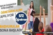 İŞKUR Üzerinden KPSS Şartsız 572 Öğretmen Alımı Yapılacak!
