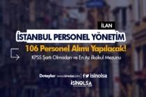 İstanbul İSPER En Az İlkokul Mezunu KPSS'siz 106 Kamu Personeli Alıyor!