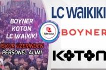 Koton, LC Waikiki ve Boyner İŞKUR Üzerinden Personel Alımı Yapacak!
