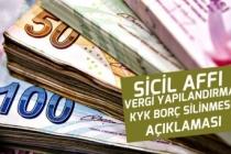 KYK Borç Silinmesi Vergi Affı Düzenlemesi Çalışmaları İçin Açıklama!